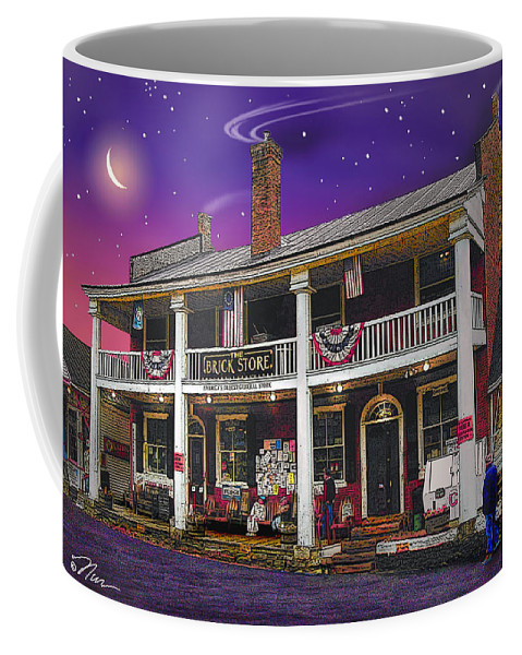 History Coffee Mug featuring the photograph The Brick Store In Bath by Nancy Griswold