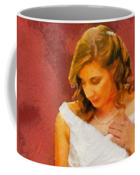Wedding Coffee Mug featuring the painting The Bride To Be by Jeffrey Kolker