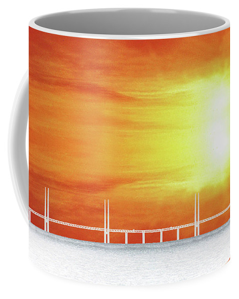 Sun Coffee Mug featuring the photograph The Bridge by Munir Alawi