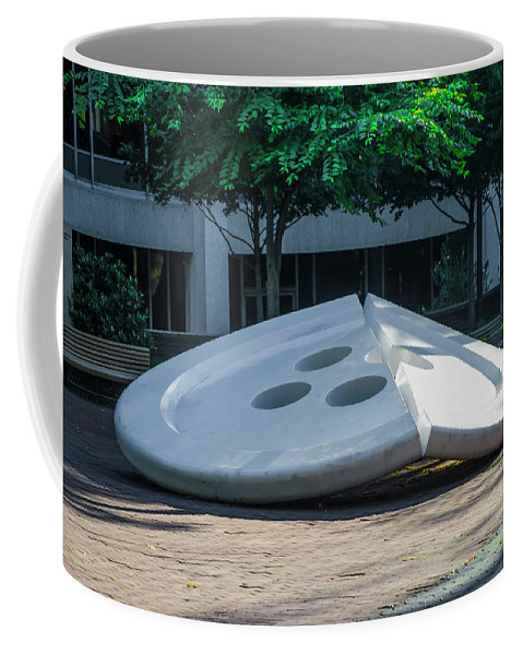 The Coffee Mug featuring the photograph The Broken Button - University Of Pennsylvania by Bill Cannon
