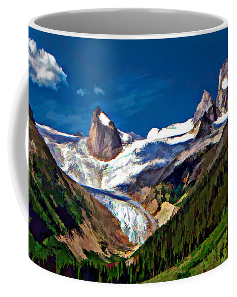 Mountains Coffee Mug featuring the photograph The Bugaboos by Steve Harrington