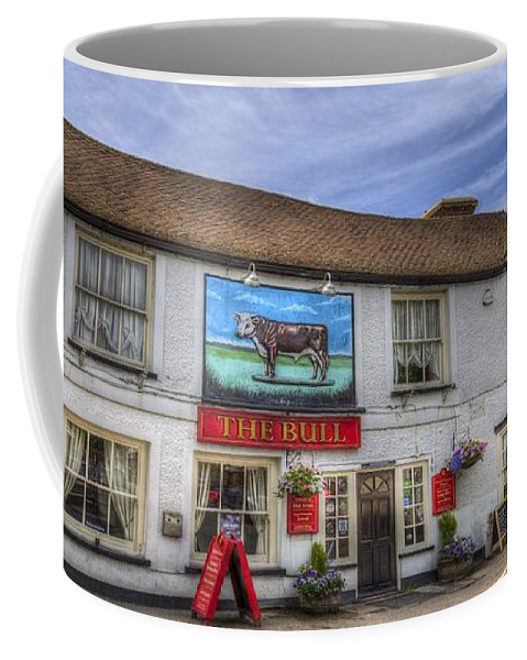 The Bull Pub Coffee Mug featuring the photograph The Bull Pub Theydon Bois Panorama by David Pyatt