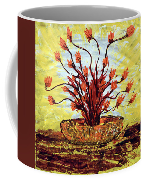 Impressionist Painting Coffee Mug featuring the painting The Burning Bush by J R Seymour