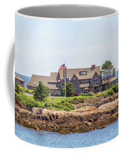 The Bush Family Compound On Walkers Point Coffee Mug featuring the photograph The Bush Family Compound On Walkers Point by Brian MacLean