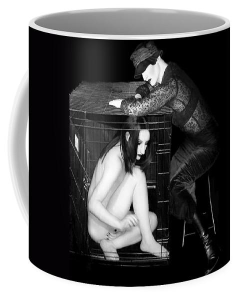 Art Coffee Mug featuring the photograph The Cage 1 - Self Portrait by Jaeda DeWalt