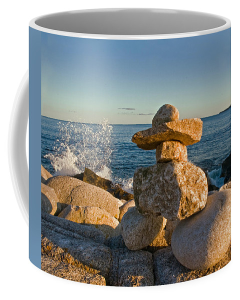 Hunts Point Nova Scotia Coffee Mug featuring the photograph The Cairns Of Hunts Point Nova Scotia by Ginger Wakem