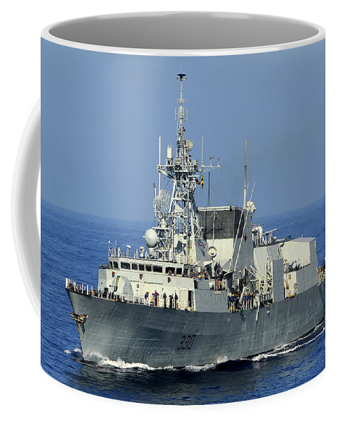 Caribbean Sea Coffee Mug featuring the photograph The Canadian Patrol Frigate Hmcs by Stocktrek Images