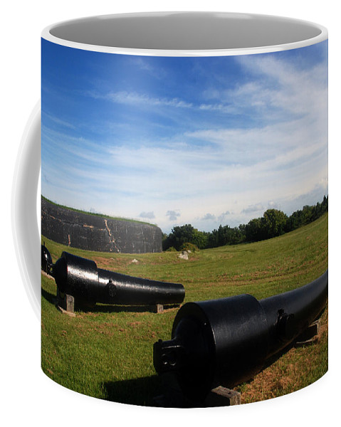 Photography Coffee Mug featuring the photograph The Cannons At Fort Moultrie In Charleston by Susanne Van Hulst