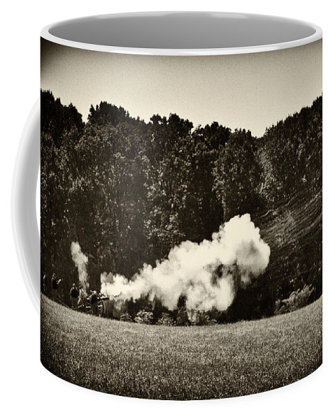 Cannon Coffee Mug featuring the photograph The Cannons' Thunder by Scott Wyatt