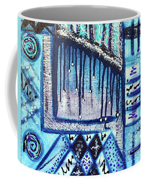 Canvas Painting Coffee Mug featuring the painting The Canvas Story by Davids Digits