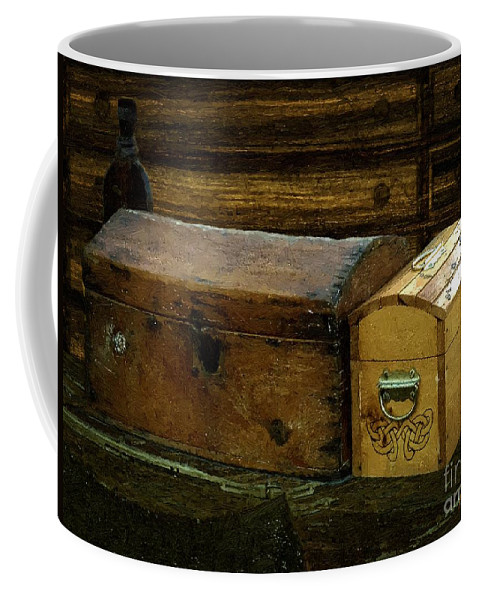 Antiques Coffee Mug featuring the painting The Captain's Cabin by RC DeWinter