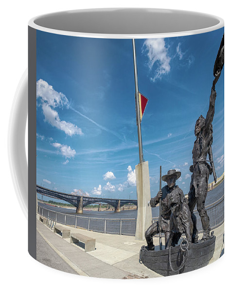 Lewis And Clark Coffee Mug featuring the photograph The Captains' Return by Susan Rissi Tregoning