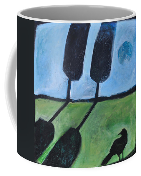 Bird Coffee Mug featuring the painting The Casual Observer by Tim Nyberg