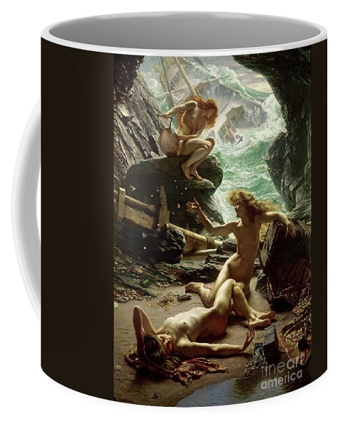 The Cave Of The Storm Nymphs Coffee Mug featuring the painting The Cave of the Storm Nymphs by Sir Edward John Poynter