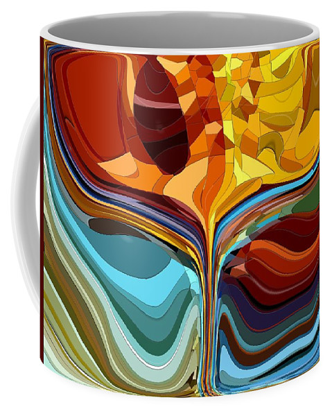 Abstract Coffee Mug featuring the digital art The Chalice II by Tim Allen