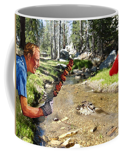 Digital Art Coffee Mug featuring the photograph The Challenge by Snake Jagger