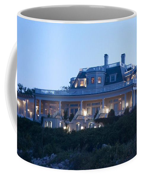 Chanler Coffee Mug featuring the photograph The Chanler At Cliff Walk by Steven Natanson
