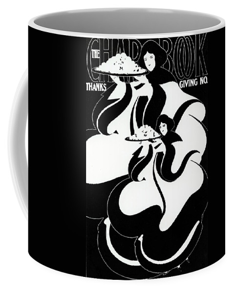 Thanksgiving Coffee Mug featuring the painting The Chapbook Thanksgiving Front Cover by American School