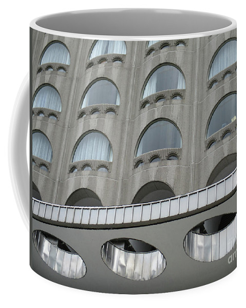 Marriott Chateau Champlain Coffee Mug featuring the photograph The Cheese Grater Detail by Randall Weidner