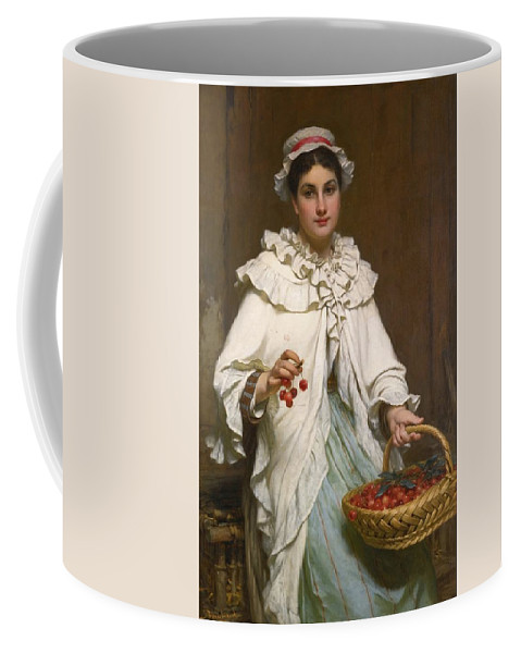 Pierre-fran�ois Bouchard French 1831-1889 The Cherry Picker Coffee Mug featuring the painting The Cherry Picker by Pierre