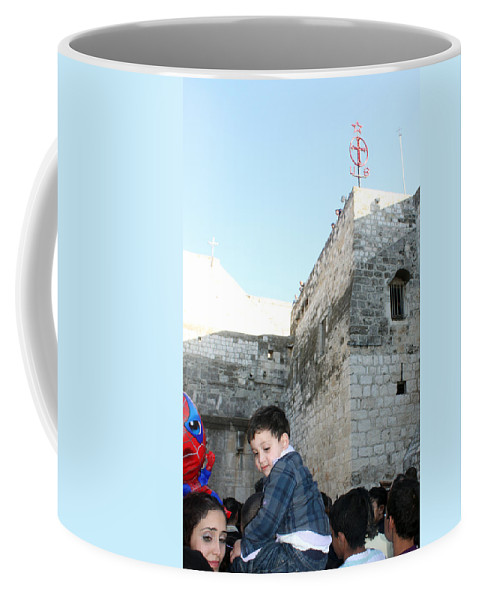 Child Coffee Mug featuring the photograph The Child Of Bethlehem 2010 by Munir Alawi