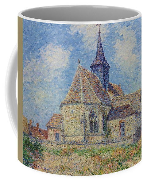Nature Coffee Mug featuring the painting The Church At Porte-joie On The Eure By Gustave Loiseau by Gustave Loiseau