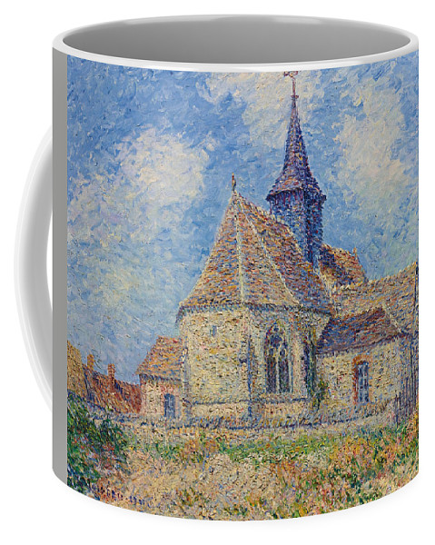 Gustave Loiseau Coffee Mug featuring the painting The Church At Porte-joie On The Eure by Gustave Loiseau