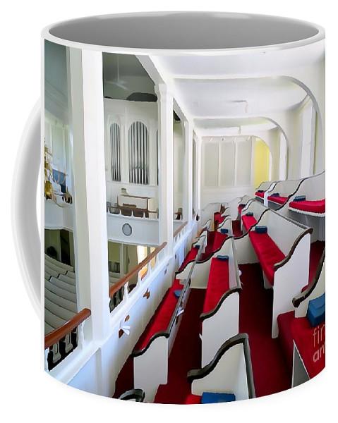 Digital Coffee Mug featuring the photograph The Church Balcony by Ed Weidman