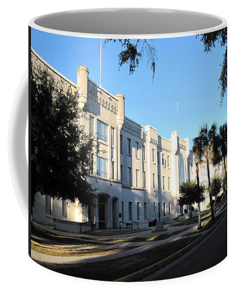Photography Coffee Mug featuring the photograph The Citadel In Charleston IIi by Susanne Van Hulst