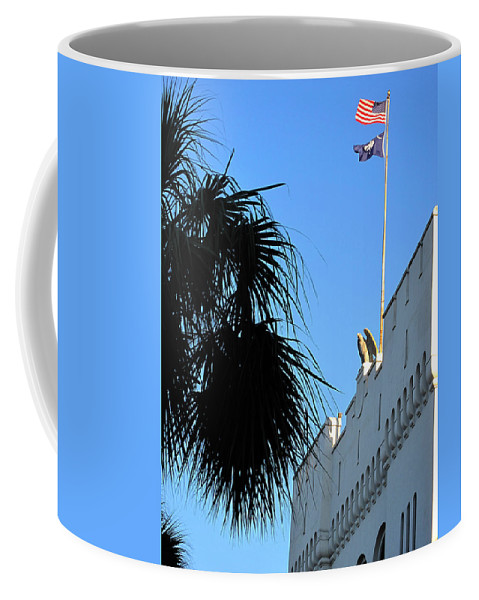 Photography Coffee Mug featuring the photograph The Citadel In Charleston by Susanne Van Hulst