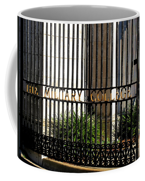 Photography Coffee Mug featuring the photograph The Citadel In Charleston V by Susanne Van Hulst