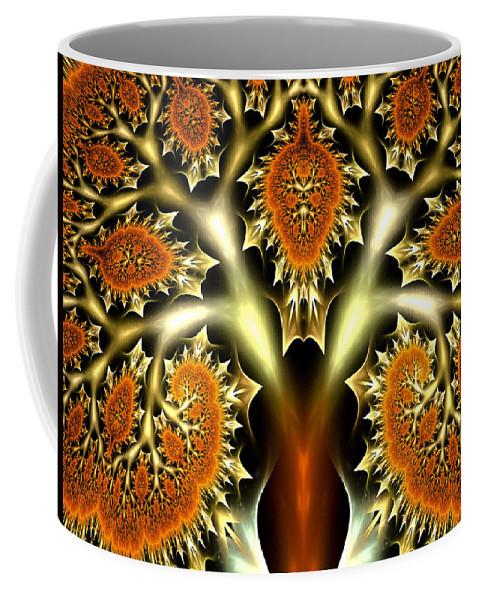 Fractal Coffee Mug featuring the digital art The Citrus Tree by Amorina Ashton