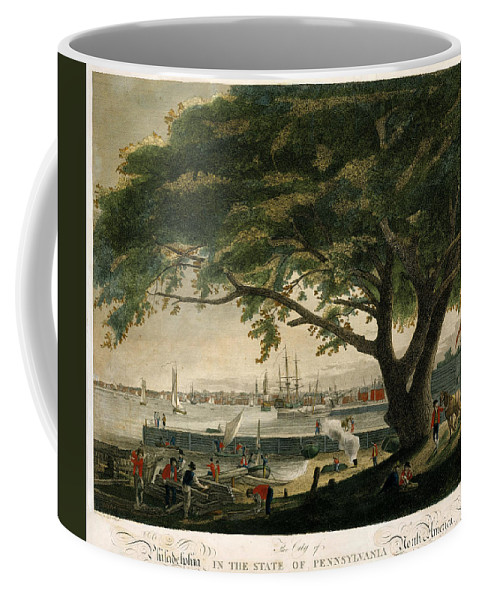 Samuel Seymour Coffee Mug featuring the drawing The City Of Philadelphia In The State Of Pennsylvania. North America by Samuel Seymour