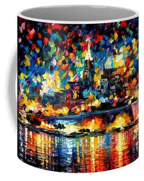 Afremov Coffee Mug featuring the painting The City Of Valetta - Malta by Leonid Afremov