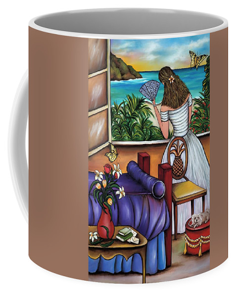 Woman Coffee Mug featuring the painting The Closer I Get To You by Annie Maxwell