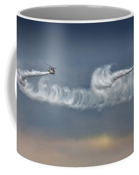 Sarang Coffee Mug featuring the photograph The Cloudmakers by Angel Ciesniarska