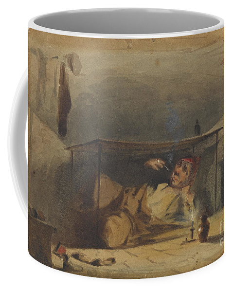 The Cobbler  Coffee Mug featuring the painting The Cobbler by Celestial Images