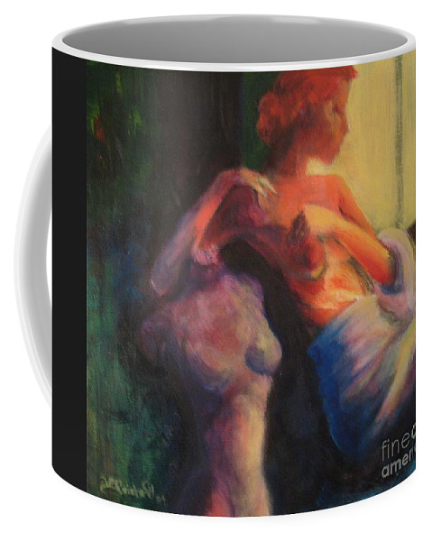 Bright Coffee Mug featuring the painting The Confidante by Jason Reinhardt