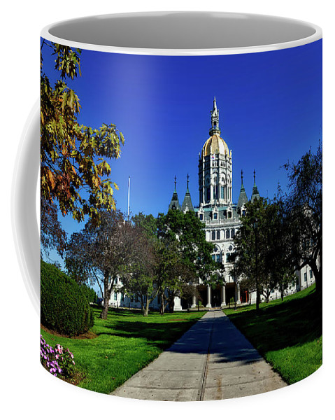 Hartford Coffee Mug featuring the photograph The Connecticut State Capitol by Mountain Dreams