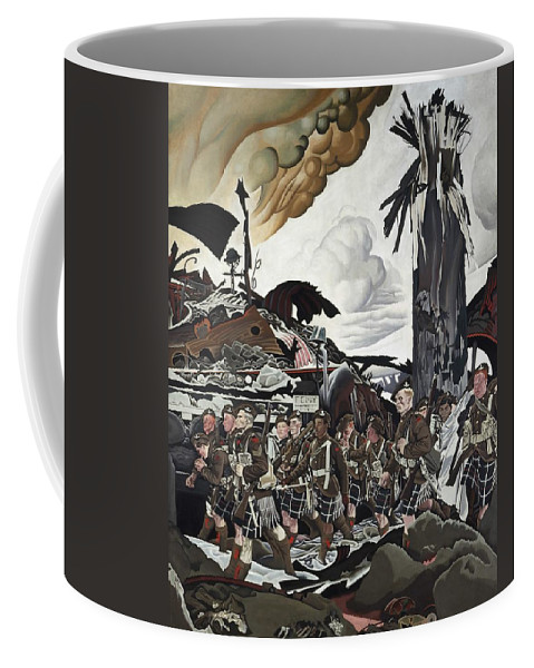 Painting Coffee Mug featuring the painting The Conquerors by Mountain Dreams