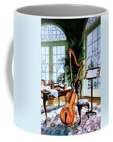 Still Life Art Coffee Mug featuring the painting The Conservatory by Hanne Lore Koehler