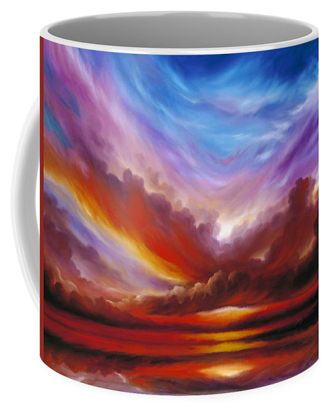 Skyscape Coffee Mug featuring the painting The Cosmic Storm II by James Christopher Hill