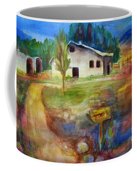 Country Barn Coffee Mug featuring the painting The Country Barn by Frances Marino