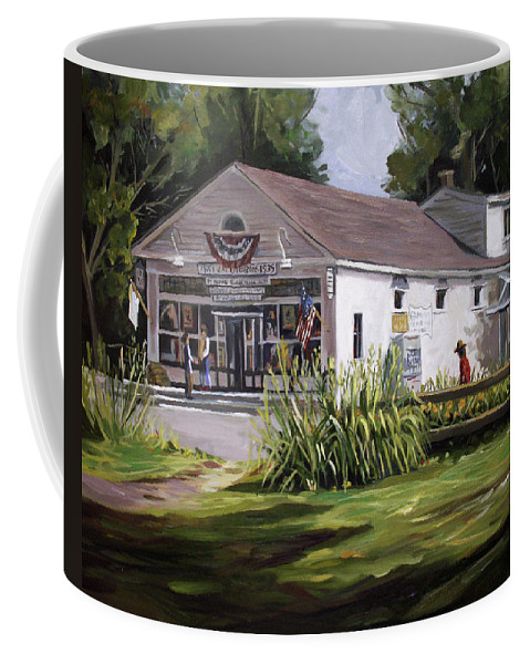 Buildings Coffee Mug featuring the painting The Country Store by Nancy Griswold