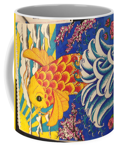Coffee Mug featuring the drawing The Coy by Jay Shaw