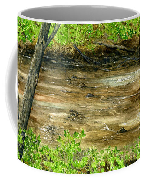 Water Coffee Mug featuring the painting The Creek by Mary Tuomi