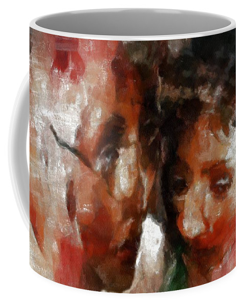 Distress Coffee Mug featuring the painting The Crone's Advice by RC DeWinter