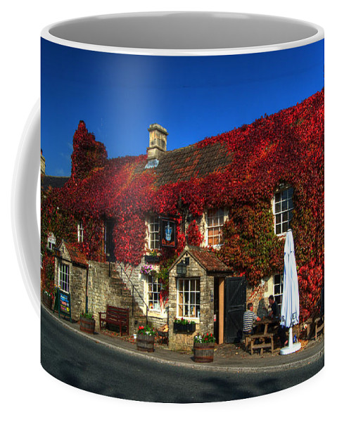 Crown Coffee Mug featuring the photograph The Crown At Kelston by Rob Hawkins