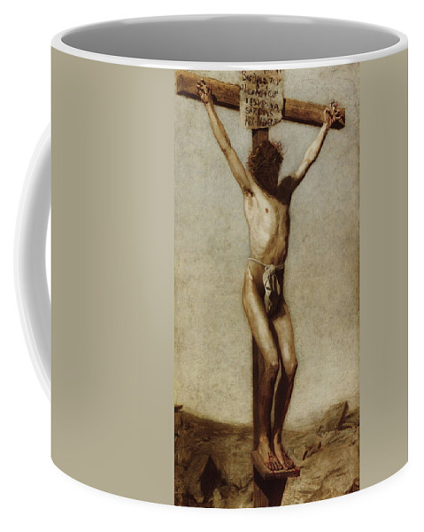 Thomas Eakins Coffee Mug featuring the digital art The Crucifixion by Thomas Eakins