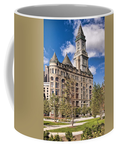 Architecture Coffee Mug featuring the photograph The Customs House Clock Tower by Marcia Colelli